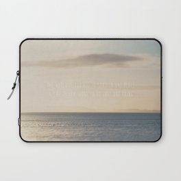 the world is too big to stay in one place ... Laptop Sleeve