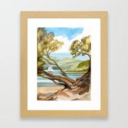Summer At Coopers Beach Framed Art Print