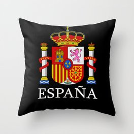 España Spain National Emblem Symbol Spaniard Throw Pillow