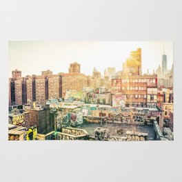New York City Graffiti Rug