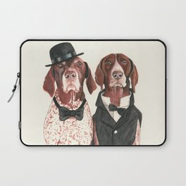 german short hair pointers - F.I.P. @ifitwags (The pointer brothers) Laptop Sleeve