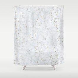 Tundra Marble Gold Mine Shower Curtain