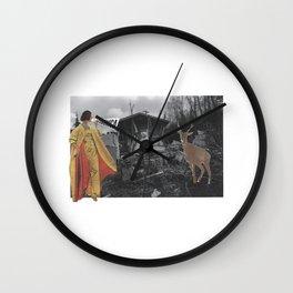 Snow Lady knows bambi Wall Clock