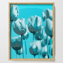 Blue Tulips Serving Tray