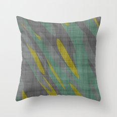 Yellow Gray and Green Throw Pillow