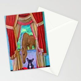 The Visitor - Painting - by Liane Wright Stationery Cards