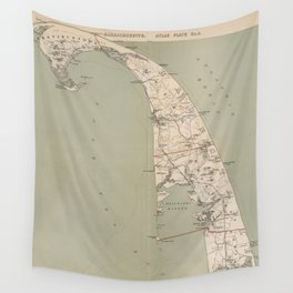 Vintage Map of Lower Cape Cod (1891) Wall Tapestry