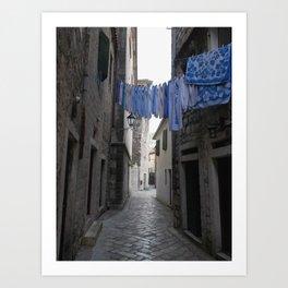 Fresh laundry Art Print