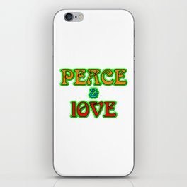 Peace And Love iPhone Skin
