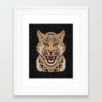 leopard Framed Art Prints featuring Leopard by ArtLovePassion