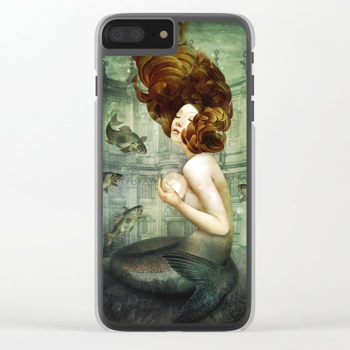 The Mermaid´s Pearl Clear iPhone Case