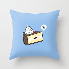 Eat Me! - Wonderland Kawaii Cake Throw Pillow