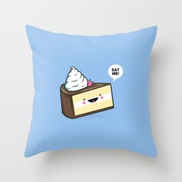 Eat Me! - Wonderland Kawaii Cake Throw Pillow