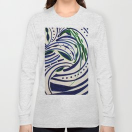 Water Flowing Plant Long Sleeve T-shirt
