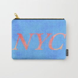 New York Print Carry-All Pouch