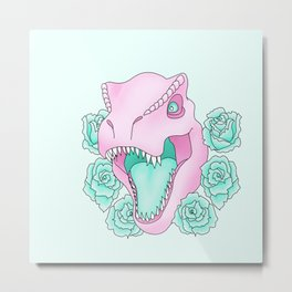Pink and Extinct  Metal Print