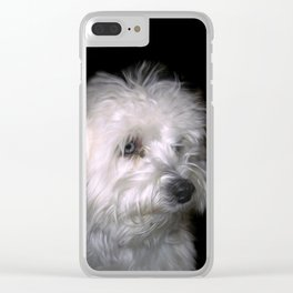 Maltese Clear iPhone Case
