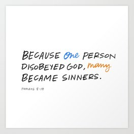 Many became sinners Art Print