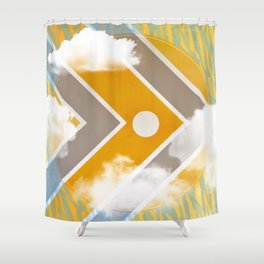 Fish - clouds Shower Curtain
