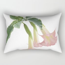Angel's Trumpet Flowers isolated on white background Rectangular Pillow
