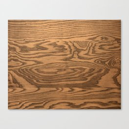 Wood 5, heavily grained wood Horizontal grain Canvas Print