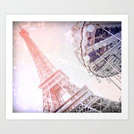 Shimmering Pink Paris Memories Art Print