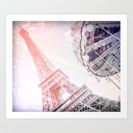 Shimmering Pink Paris Memories Art Print