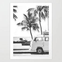 retro summer Art Print
