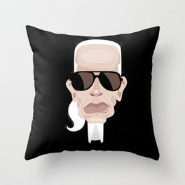 Karl Lagarfeld Throw Pillow