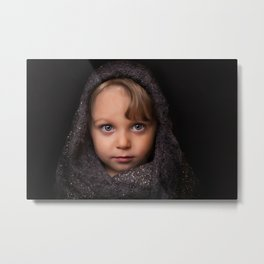 Little girl portrait Metal Print