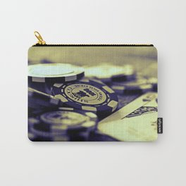 Casino Chips & Cards-B&W Carry-All Pouch