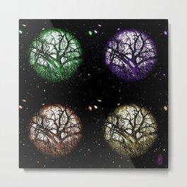 Tree Planets Metal Print