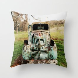 The Farm Truck Throw Pillow