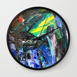 Abstract Oil Paint on Canvas Rothko Wall Clock