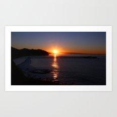 California Sunrise Art Print