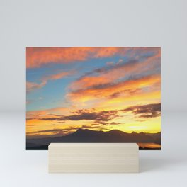 Pastel Sky From Himmelrich Hotel Lucerne Switzerland Mini Art Print