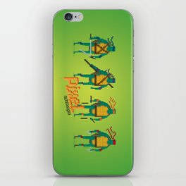 Ninja Turtles - Pixel Nostalgia iPhone Skin