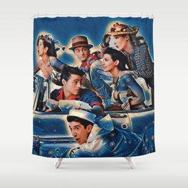 Friends Tv Show Merchandise Picture Joey Ross rachel Shower Curtain