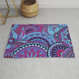 Pattern with violet mandalas Rug