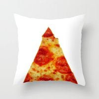 pizza Throw Pillows featuring PIZZA by @thecultureofme