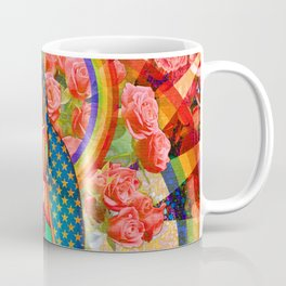 Rainbow Guadalupe Collage Coffee Mug