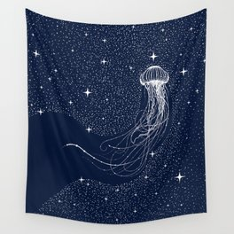 starry jellyfish Wall Tapestry