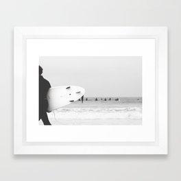 catch a wave II Framed Art Print