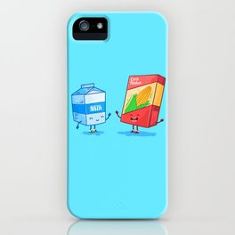 Milk and Corn (Best friends. Character set.) iPhone Case