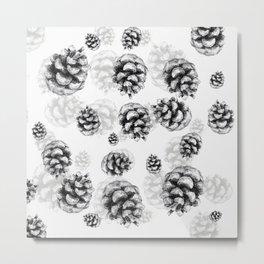 Conifer cone pattern - positive Metal Print