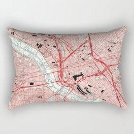 Dallas Texas Map (1995) Rectangular Pillow