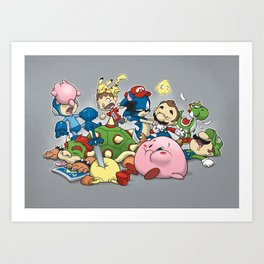 Smash Brawl Art Print