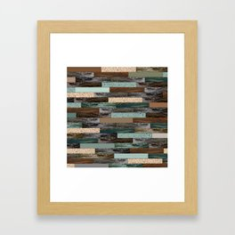 Wood in the Wall Framed Art Print