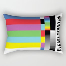 Color Bars Rectangular Pillow