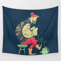 tattoos Wall Tapestries featuring Break those Rules. by Karl James Mountford